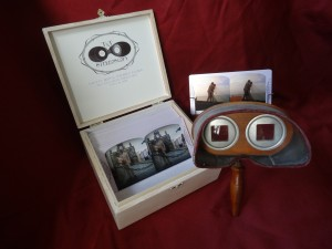 Custom Gift Set. Box and Antique Holmes Stereoviewer.